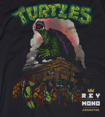 Camiseta Turtles de Rey Mono Camisetas