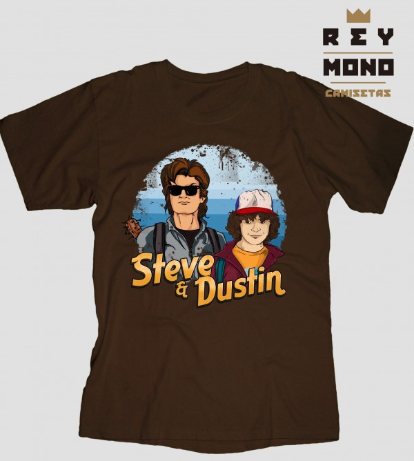 STEVE AND DUSTIN en camiseta unisex