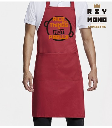 RICE WITH THINGS APRON