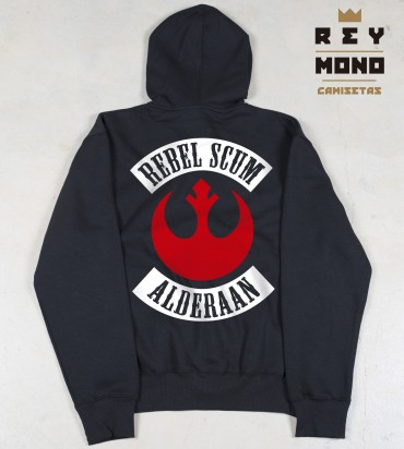 REBEL SCUM FELPA CON ZIP
