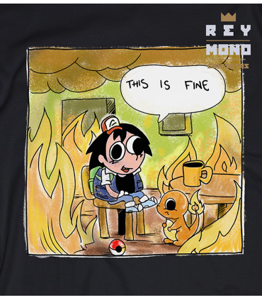 THIS IS FINE CAMISA