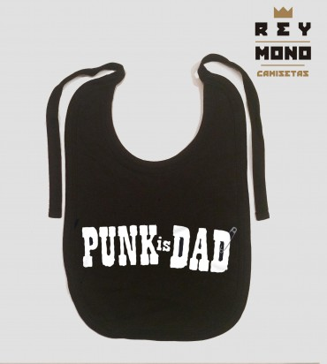 PUNK IS DAD BIB