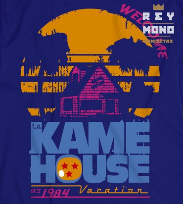 Kame house souvenir blue design
